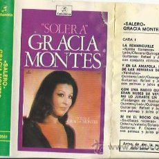 Casetes antiguos: GRACIA MONTES - SALERO - CASETES SEGUNDA MANO. Lote 50280460
