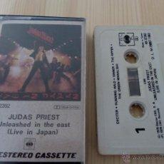 Casetes antiguos: JUDAS PRIEST - UNLEASHED IN THE EAST (LIVE IN JAPAN) HEAVY METAL TAPE SPEED NWOBHM. Lote 50607446