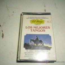 Casetes antiguos: CAJ-229 CASETE LOS MEJORES TANGOS VOL 5. Lote 218391702