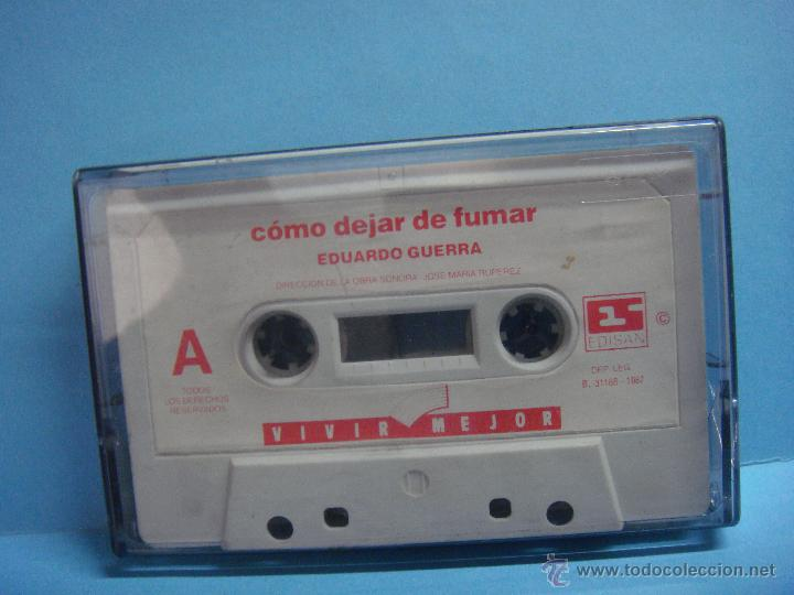 CASETE. COMO DEJAR DE FUMAR. EDUARDO GUERRA. CINTA. VIVIR MEJOR (Música - Casetes)