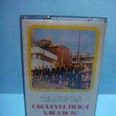 Casetes antiguos: CASETE. CINTA. TANGOS ORQUESTA TIPICA SAKAMOTO, OLYMPO 1977.. Lote 51375970