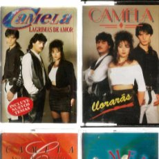 Cassette antiche: 4 CASETES DE CAMELA : SOLO POR TI + SUEÑOS INALCANZABLES + LLORARAS + LAGRIMAS DE AMOR . Lote 51682869