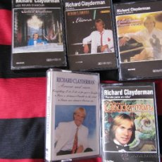 Casetes antiguos: LOTE 5 CASETTES RICHARD CLAYDERMAN. Lote 51978907