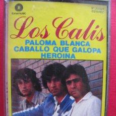 Casetes antiguos: LOS CALIS. PALOMA BLANCA, CABALLO QUE GALOPA, HEROINA. FONOMUSIC 91.2030/1. 1985. Lote 52136206