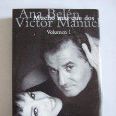 Casetes antiguos: CINTA CASETE - ANA BELEN VICTOR MANUEL - MUCHO MAS QUE DOS VOLUMEN 1 - ARIOLA 1994 - 15 TEMAS. Lote 53323979