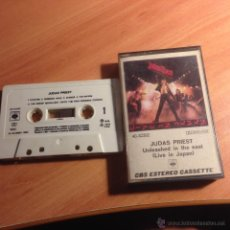Casetes antiguos: JUDAS PRIEST (UNLEASHED IN THE EAST. LIVE IN JAPAN) CASSETTE 1983 ESPAÑA (CAS8). Lote 53342933