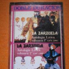 Casetes antiguos: CINTA DE CASSETTE - LA ZARZUELA - ANTOLOGÍA LÍRICA VOL I Y VOL 2 DE 1874 A 1904 - MH - 1971 -. Lote 55326392