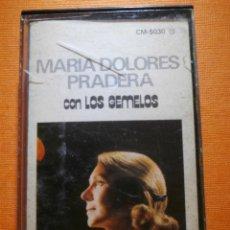 Casetes antiguos: CINTA DE CASSETTE - MARÍA DOLORES PRADERA - CON LOS GEMELOS - ZAFIRO - 1984 -. Lote 55344055