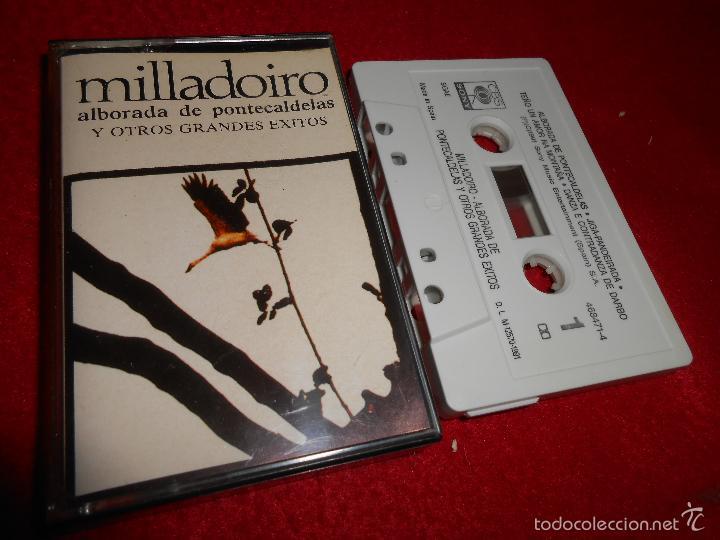 MILLADOIRO ALBORADA DE PONTECALDELAS Y OTROS GRANDES EXITOS K7 CASSETTE 1991 CBS SONY GALIZA (Música - Casetes)