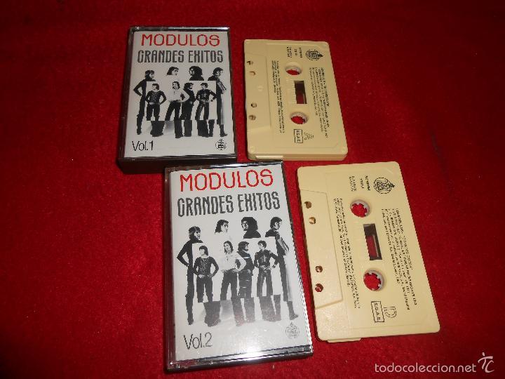MODULOS GRANDES EXITOS VOL1+VOL2 K7 CASSETTE 1992 HISPAVOX GRANADA (Música - Casetes)