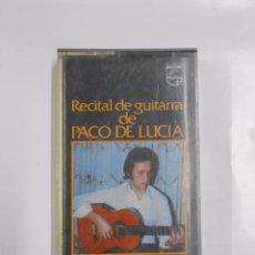 Casetes antiguos: RECITAL DE GUITARRA DE PACO DE LUCIA. TDKCST1A. Lote 56734542