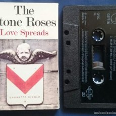 Casetes antiguos: THE STONE ROSES: LOVE SPREADS / YOUR STAR WILL SHINE, CASSETTE SINGLE 2 TEMAS, GEFFEN GFSC 84. 1994. Lote 56916604