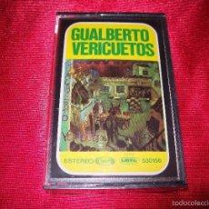 Casetes antiguos: GUALBERTO - VERICUETOS - MOVIE PLAY - SERIE GONG - PRECINTADO - 530156 - CASETE - RARE. Lote 57153942