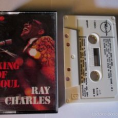 Cassette antiche: RAY CHARLES - KING OF SOUL - CASSETTE 10 TEMAS - TRAMA / MARFER 1977 SPAIN. Lote 57301638