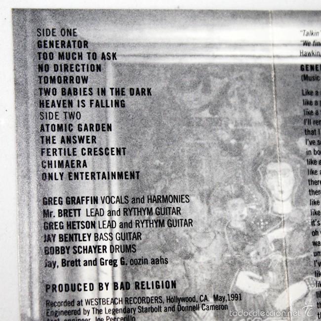 Casetes antiguos: Bad Religion - Generator - 1992 - Cassette Tape - Foto 2 - 58013363