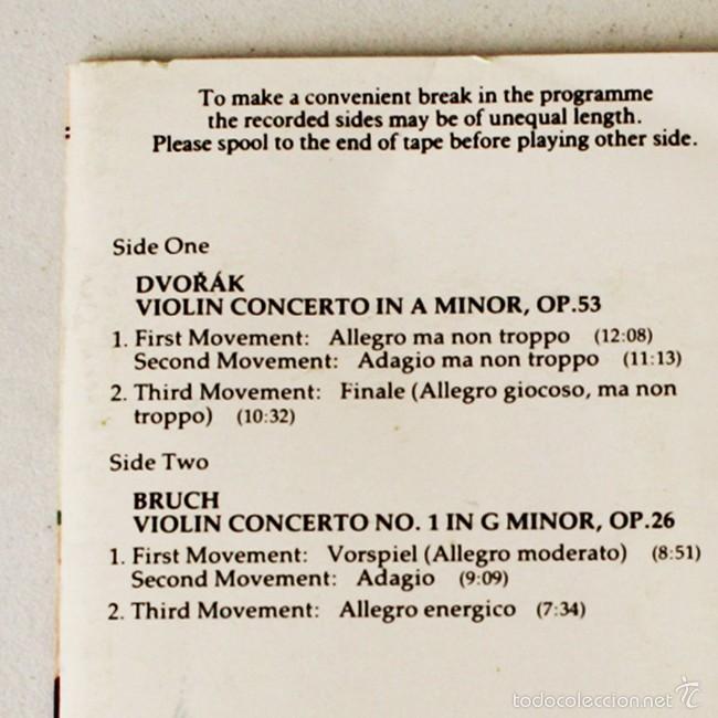Casetes antiguos: Classics for Pleasure - Bruch - Dvorak - EMI - 1990 - Cassette Tape - Foto 2 - 58013896
