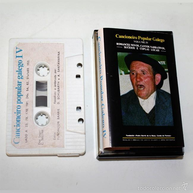 CANCIONERO POPULAR GALEGO IV - HISTORIAS Y COPLAS - 1988 - CASSETTE TAPE (Música - Casetes)