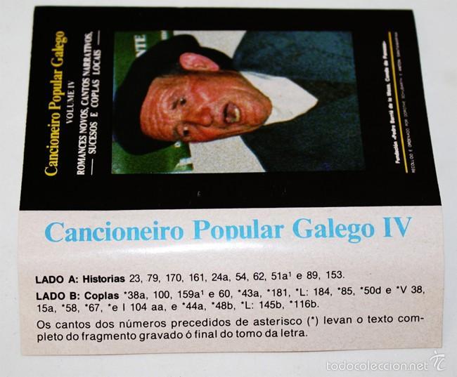 Casetes antiguos: Cancionero Popular Galego IV - Historias y Coplas - 1988 - Cassette Tape - Foto 2 - 58014056