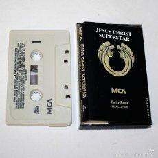 Casetes antiguos: JESUS CHRIST SUPERSTAR - A ROCK OPERA (TWO ALBUM SET) - TWIN PACK - MCA - CASSETTE TAPE. Lote 58057425