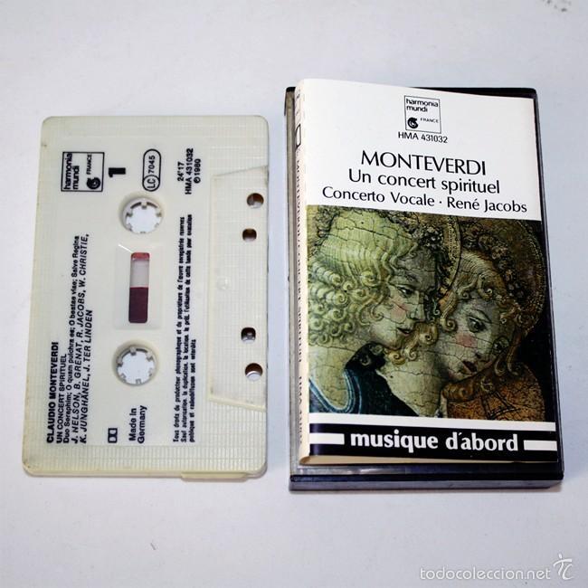 CLAUDIO MONTEVERDI - UN CONCERT SPIRITUEL - CONCERTO VOCALE - RENÉ JACOBS - 1980 - CASSETTE TAPE (Música - Casetes)