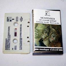 Casetes antiguos: CLAUDIO MONTEVERDI - UN CONCERT SPIRITUEL - CONCERTO VOCALE - RENÉ JACOBS - 1980 - CASSETTE TAPE. Lote 58062422