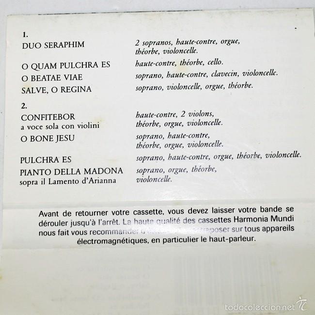 Casetes antiguos: Claudio Monteverdi - Un Concert Spirituel - Concerto Vocale - René Jacobs - 1980 - Cassette Tape - Foto 2 - 58062422