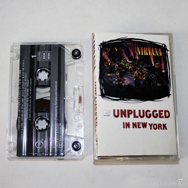 Casetes antiguos: Nirvana - Unplugged In New York - MTV - 1994 - Cassette Tape - Foto 1 - 58063830