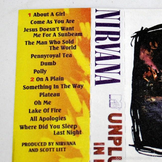 Casetes antiguos: Nirvana - Unplugged In New York - MTV - 1994 - Cassette Tape - Foto 2 - 58063830