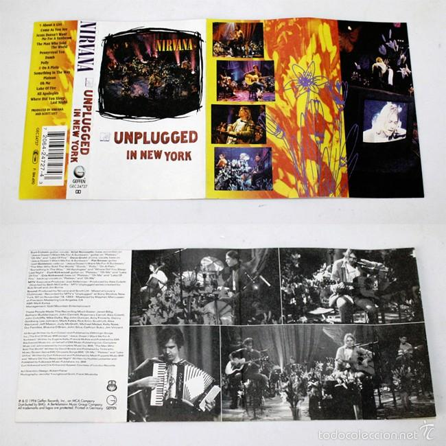Casetes antiguos: Nirvana - Unplugged In New York - MTV - 1994 - Cassette Tape - Foto 3 - 58063830