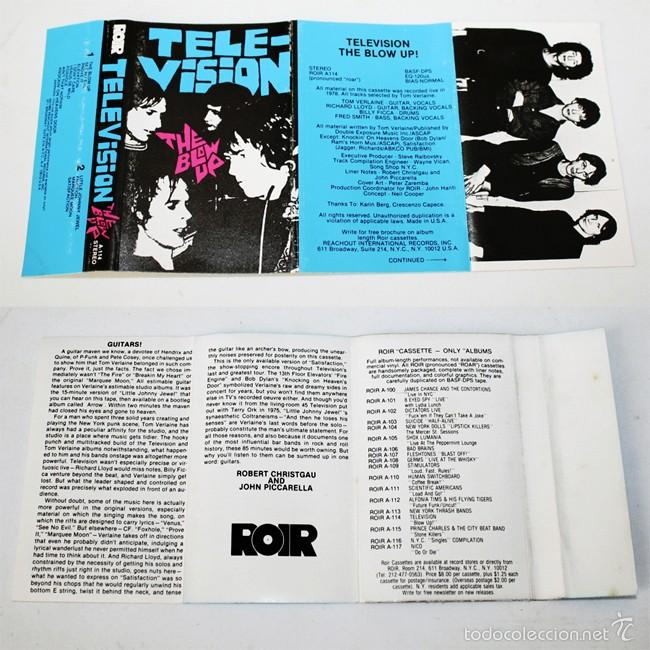 Casetes antiguos: Television - The Blow Up - ROIR - 1982 - Cassette Tape - Foto 3 - 58064261