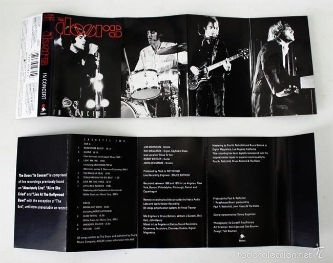 Casetes antiguos: The Doors - In Concert - Vol. 1 & 2 - Elektra- 1991 - 2 Cassette Tape - Foto 2 - 58064387