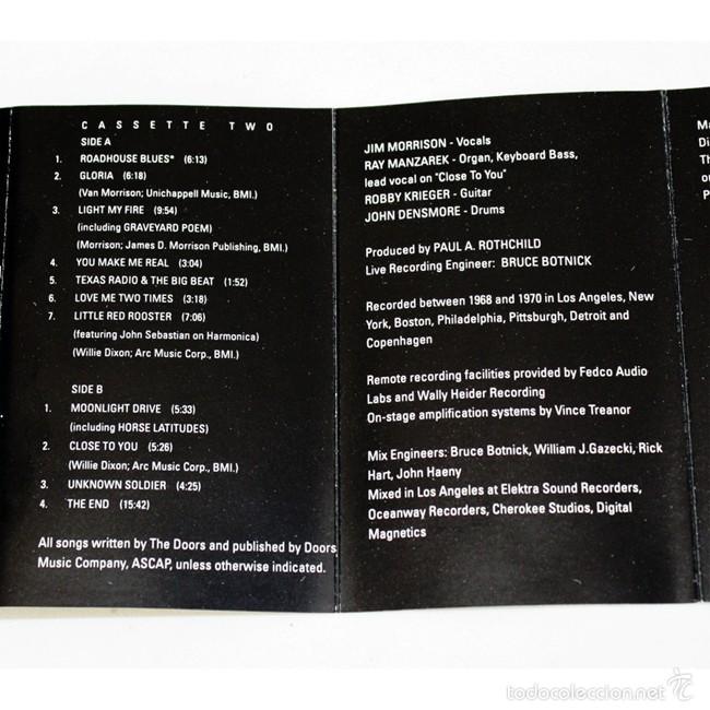Casetes antiguos: The Doors - In Concert - Vol. 1 & 2 - Elektra- 1991 - 2 Cassette Tape - Foto 4 - 58064387