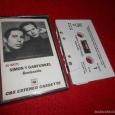 Casetes antiguos: SIMON Y GARFUNKEL BOOKENDS K7 CASSETTE 1982 CBS EDICION ESPAÑOLA SPAIN. Lote 58202585