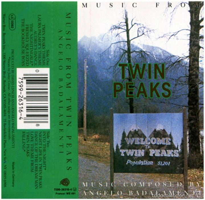 Casetes antiguos: Angelo Badalamenti – Music From Twin Peaks - Cassette Germany 1990 - WB 7599-26316-4 - Foto 2 - 71588578