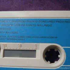 Casetes antiguos: CINTA DE CASSETTE - CASETE - PRIMER Y SEGUNDO PREMIO CANTO DE MALINOIS - CANARIOS - PHILIPS - 1976. Lote 58545615