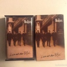 Casetes antiguos: CASSETTE DOBLE THE BEATLES - LIVE AT THE BBC. Lote 59726863