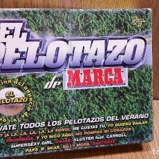 Casetes antiguos: EL PELOTAZO DE MARCA. BOX-SET - TRIPLE CASETE / TEMPO MUSIC / PRECINTADO.. Lote 61746608