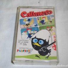 Casetes antiguos: CALIMERO CANCIONES DE LA SERIE DE TVE CANTADAS POR PARCHIS 92. Lote 63190660