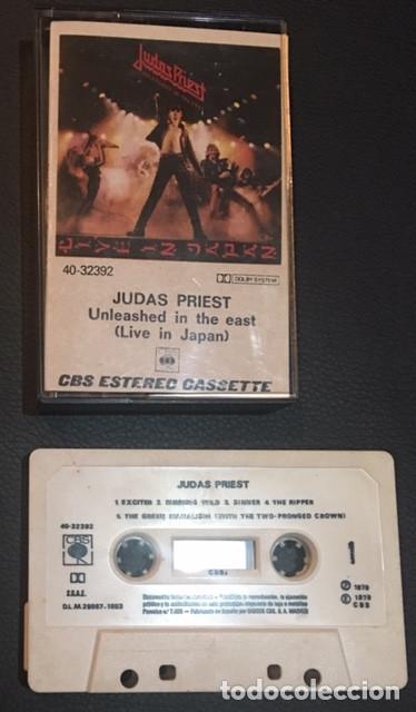 CASSETTE CASETE CASSETE CASETTE JUDAS PRIEST UNLEASHED IN THE EAST LIVE IN JAPAN EDICION ESPAÑOLA (Música - Casetes)