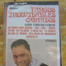 Casetes antiguos: JUAN CARLOS COBOS: TANGOS INOLVIDABLES CANTADOS. DISCOPHON PRECINTADA. Lote 66836066