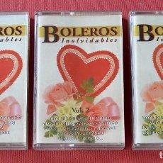 BOLEROS INOLVIDABLES - 3 CASETES - 3 VOLUMENES