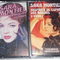 Casetes antiguos: 2 CINTAS CASETE SARA MONTIEL MEJORES CANCIONES VERSIONES ORIGINALES ONDINA. Lote 69052609