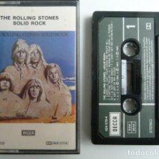 Casetes antiguos: THE ROLLING STONES SOLID ROCK EDITA DECCA 1989 . Lote 72404495