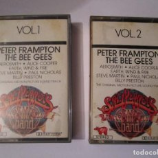 Casetes antiguos: DOBLE CASETE SGT.PEPPERS LONELY HEARTS CLUB BAND RSO PETER FRAMPTON THE BEE GEES AEROSMITH. Lote 76623787