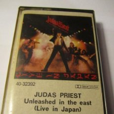 Casetes antiguos: CASETE JUDAS PRIEST UNLEASHED IN THE EAST (LIVE IN JAPAN) CBS AÑO 1979. Lote 76630039