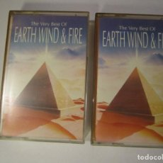 Casetes antiguos: DOBLE CASETE THE VERY BEST OF EARTH WIND & FIRE AÑO 1991 SONY. Lote 77377117