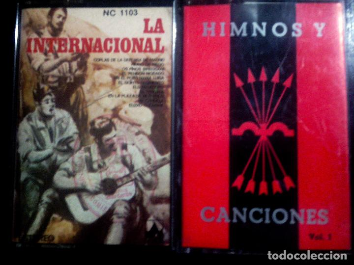 DOS CASETES DE - HIMNOS Y CANCIONES BANDO REPUBLICANO Y NACIONAL - CARA SOL- INTERNACIONAL1977 (Música - Casetes)