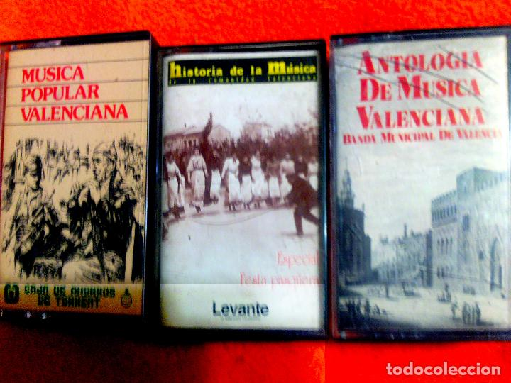 LOTE COLECCION DE 3 CASETES DE - MUSICA POPULAR VALENCIANA - EDICION 1979 Y 1984 (Música - Casetes)