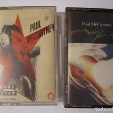 Casetes antiguos: LOTE 2 CASETE PAUL MAC CARTNEY CHOBA B CCCP TRPPING THE LIVE FANTASTIC. Lote 77824549