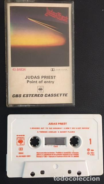 CINTA CASSETTE CASETE CASSETE CASETTE JUDAS PRIEST POINT OF ENTRY EDICION ESPAÑOLA 1981 (Música - Casetes)